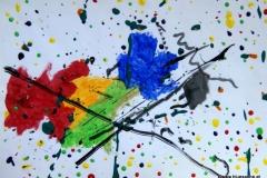 Points+Stripes00.00.201142 x 29,5 cmAcryl + Gouache auf Papier