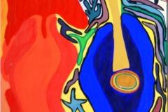 RedBlues04.02. - 19.02.200342 x 29,5 cmAcryl + Plaka auf Papier