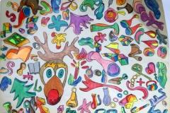 Rudi20.12. - 21.12.200156 x 42 cmBuntstift + Tusche auf Papier