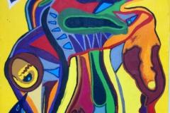 SadBird00.12.201164,5 x 54,5 cmAcryl auf Stoff bespannt auf Holzplatte