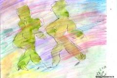Shadows03.01.200429,7 x 21 cmWasserfarbe + Buntstift auf Papier