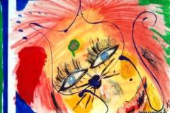 ShinyHeadCat01.08.201259 x 42 cmAcryl + Gouache auf Papier