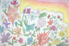 SunnyFlowers21.09.201342 x 29,5 cmPastellkreide auf Papier