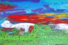 Windhund25.08.201342 x 29,5 cmAcryl + Füllfeder auf Karton