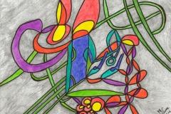 Verwunschen05.08.201629,4 x 21 cm Buntstifte + Marker auf Papier