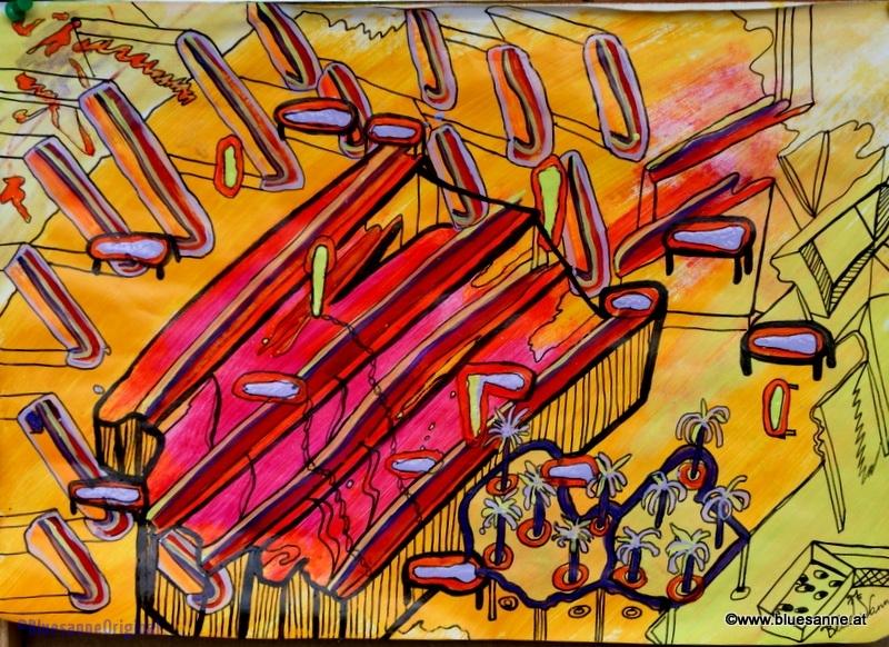 FreeBeach19.08. - 20.08.201542 x 29,5 cmAcryl + Tusche auf Papier