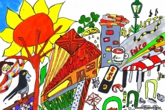 Ansichtskarte GAK11.07.-22.08.201229,7 x 21 cmAcryl + Tusche auf Papier