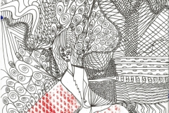 Armrot24.09.201629,4 x 21 cm Fineliner + Acryl auf Papier