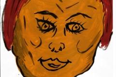BabyFace26.11.200129,4 x 21 cm Wasserfarbe auf Papier