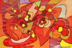 Butterflower00.00.200342 x 29,5 cmAcryl + Gouache auf Papier