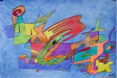 CatinTown31.07. - 03.08.201642 x 29,5 cmBuntstifte + Tinte auf Papier