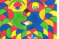 ColorSmiley21.02. -  22.02.199929,4 x 21 cm Wasserfarbe auf Papier