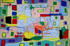 Crossroad00.00.200463 x 44 cmAcryl + Tusche auf Papier