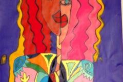 CurlyGirl21.11.201242 x 29,5 cmAcryl + Marker auf Papier