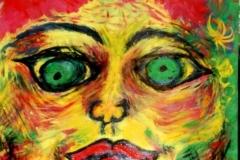 FaceMe08.01. - 09.01.200255 x 42 cmAcryl + Gouache auf Papier