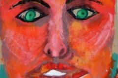Faced10.01.200342 x 29,5 cmAcryl + Gouache auf Kartonpapier
