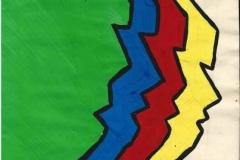 FourFace04.11.200029,7 x 21 cmGoache auf Papier