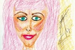 Grübchendame30.12.200129,4 x 21 cm Buntstifte auf Papier