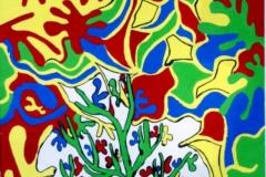 Grasy30.09.  - 02.10.200056 x 42 cmGouache + Plaka auf Papier