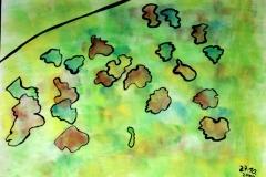 GreenWorld27.10.200056 x 42 cmGouache auf Papier