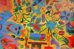 Juicy24.01. - 27.01.200344 x 30 cmAcryl + Plaka auf Papier