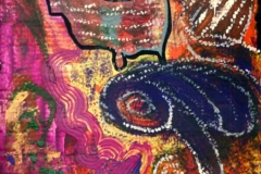 Krake16.02.201259 x 37 cmAcryl auf Wellpappe