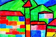 Dorf06.12.200129,7 x 21 cmÖlkreide + Plaka auf Papier