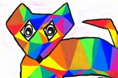 Fox06.12. - 07.12.200129,7 x 21 cmWasserfarbe + Buntstift + Tinte auf Papier
