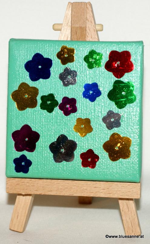 Blumenwiese16.11.20127 x 7 cmAcryl + Varnish auf Leinwand + Staffel