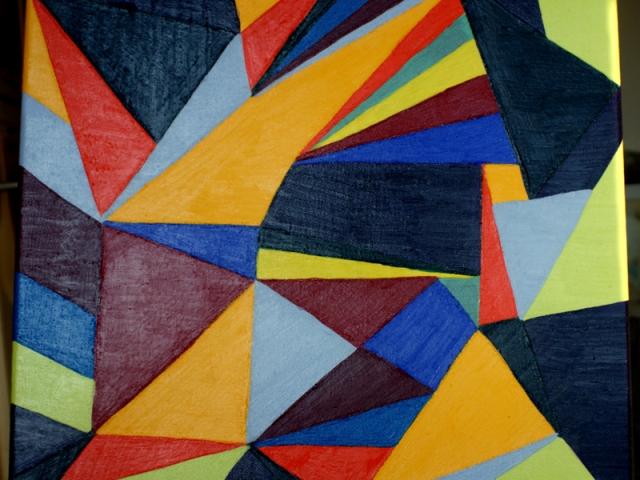 Eckerlkas 27.12.2015 40 x 40 cm Acryl auf Leinwand