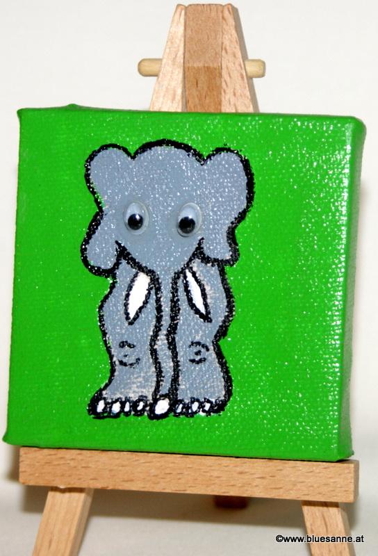 Elefant17.11.20127 x 7 cmAcryl + Varnish auf Leinwand + Staffel