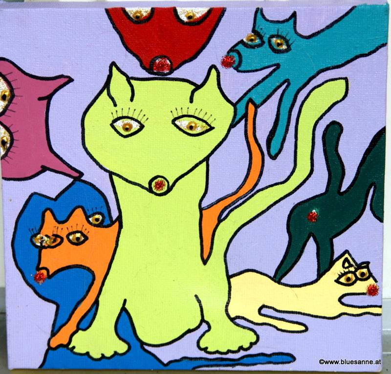 Glitter cats
