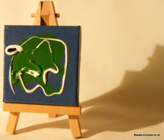 GreenFant15.07.20117 x 7 cmAcryl + Abtönfarbe auf Leinwand + Staffel