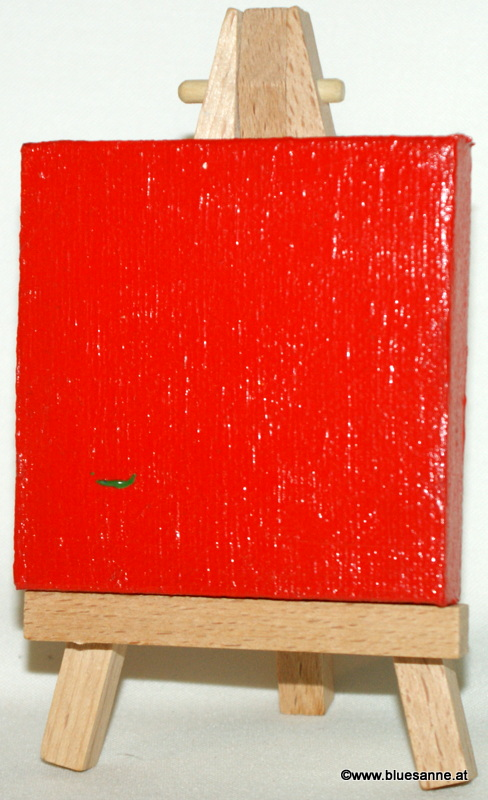 JustRed00.12.20117 x 7 cmAcryl + Abtönfarbe + Varnish auf Leinwand + Staffel