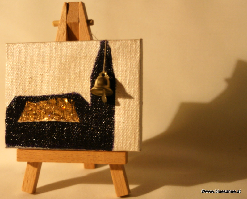 Kirche28.11.20129 x 7 cmAcryl + Varnish auf Leinwand + Staffel