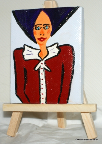 Lady Bluse16.02.20169 x 7 cmAcryl auf Leinwand + Staffel