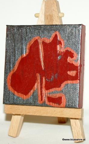 Leber00.00.20117 x 7 cmAcryl + Abtönfarbe + Varnish auf Leinwand +  Staffel