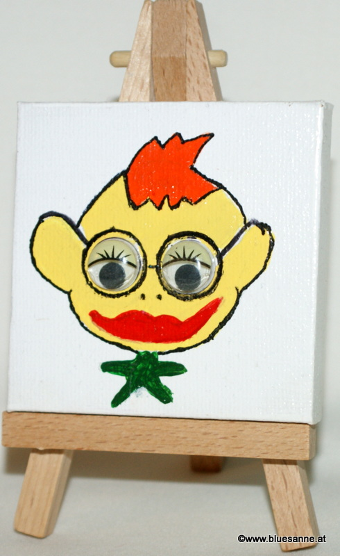LittleWilly	04.09.2012	7 x 7 cm	Acryl + Varnish auf Leinwand + Staffel