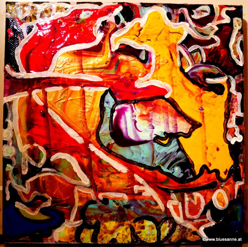 CrazyTime04.01. - 09.01.202120 x 20 cmAcryl auf Leinwand