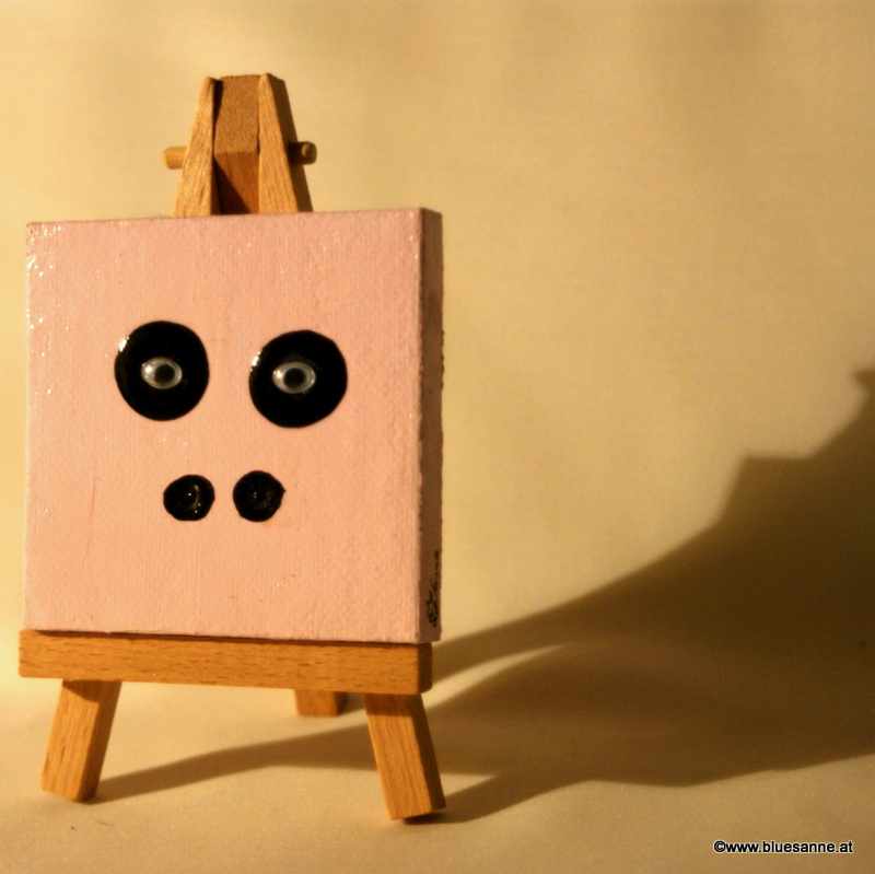 Pigy09.10.20117 x 7 cmAcryl + Abtönfarbe + Varnish auf Leinwand + Staffel