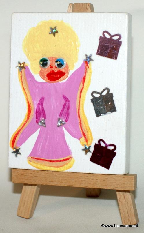 Rosa Engel03.09.20129 x 7 cmAcryl + Varnish auf Leinwand + Staffel