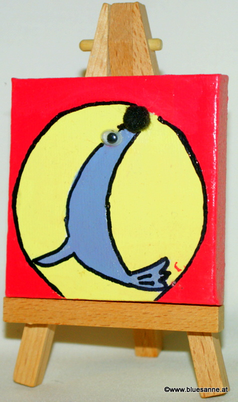 Seehund19.09.20127 x 7 cmAcryl + Varnish auf Leinwand + Staffel