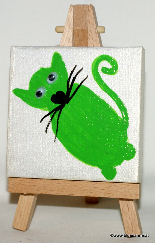 Shiny-G-Cat31.05.20127 x 7 cmAcryl + Varnish auf Leinwand + Staffel