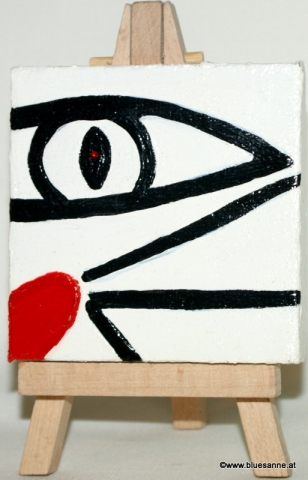 WhiteCatEye	31.05.2012	7 x 7 cm	Acryl + Varnish auf Leinwand + Staffel