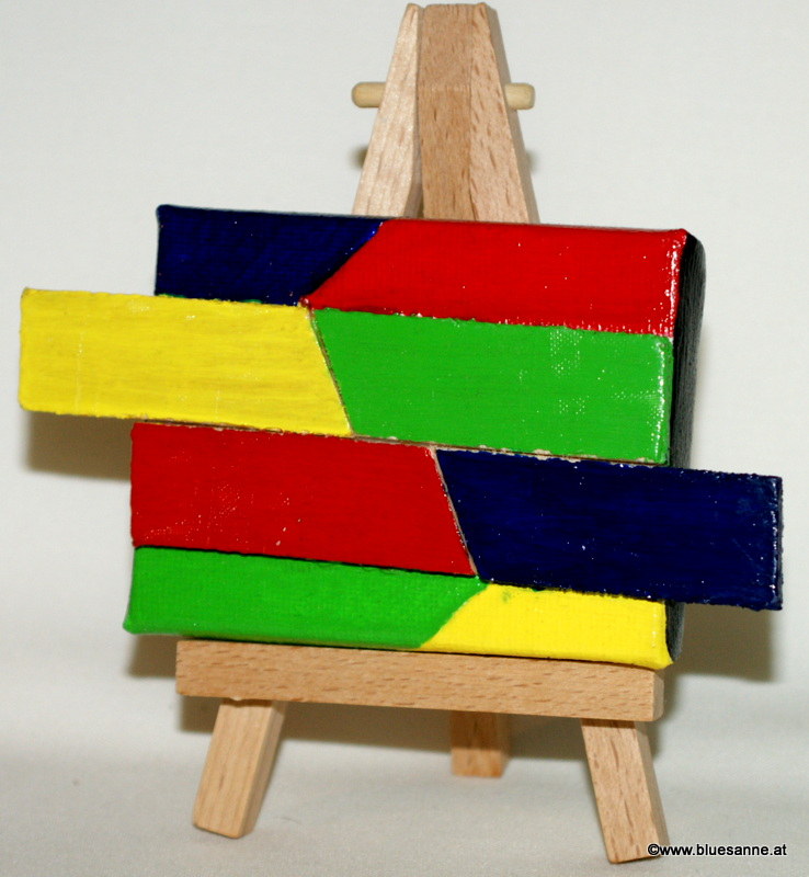 WoodenColors	10.07.2012	8 x 6 cm	Acryl + Holz + Varnish auf Leinwand + Staffel