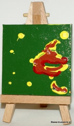 X-MasTree13.12.20117 x 7 cmAcryl + Abtönfarbe auf Leinwand + Staffel