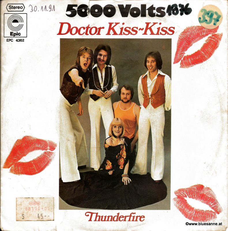 5000 Volts Doctor Kiss Kiss 1976 Single