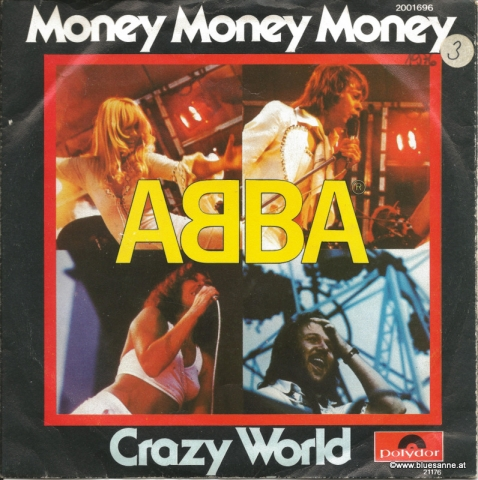 ABBA ‎– Money, Money, Money 1976 Single