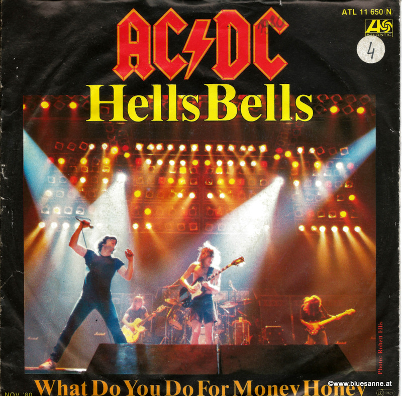 AC DC ‎– Hells Bells 1980 Single