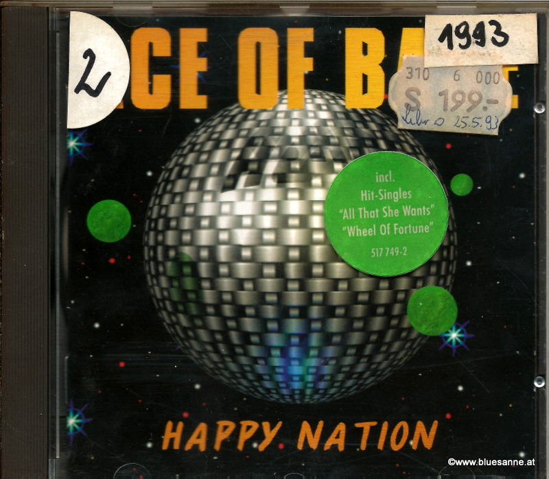 Ace Of Base ‎– Happy Nation 1993 CD
